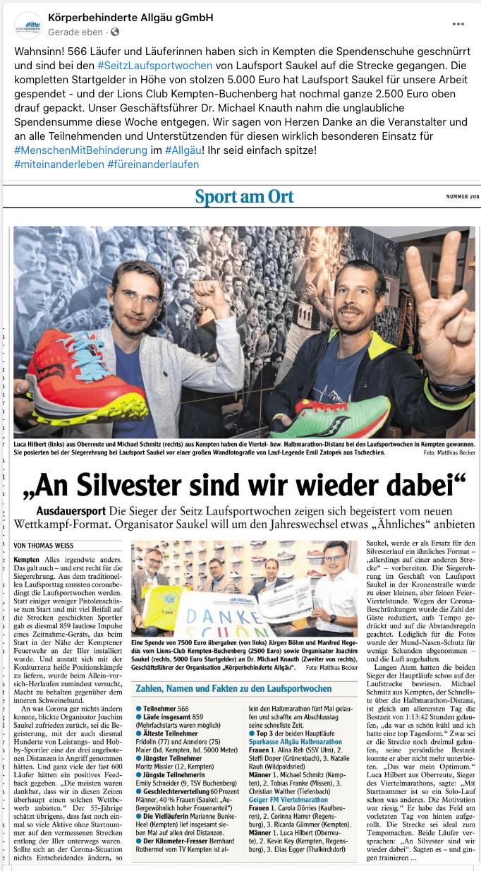 Pressebericht Seitz Laufsportwochen