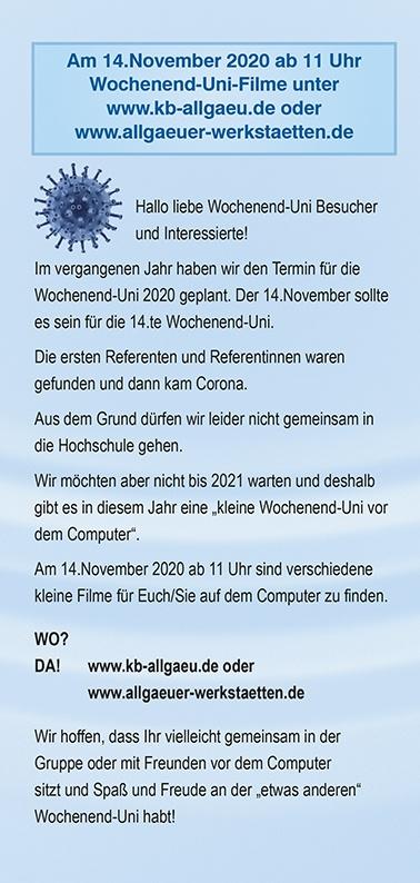 Wochenend-Uni Flyer Seite 2