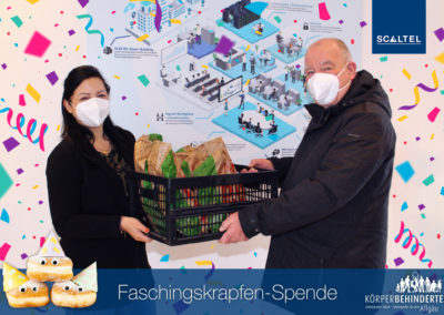 Faschingskrapfen-Challenge 2021 bei Körperbehinderte Allgäu